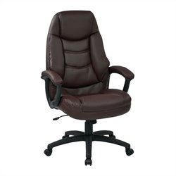 Executive Faux Leather Office Chair in Burgundy