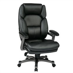Eco Leather Office Chair in Titanium and Black