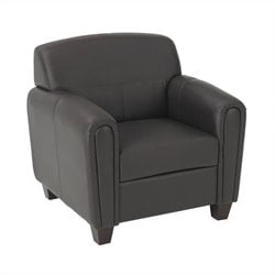 Pillar Faux Leather Club Chair in Espresso