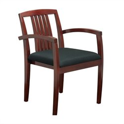 Set of 4 Guest Chair with Wood Slat Back in Cherry