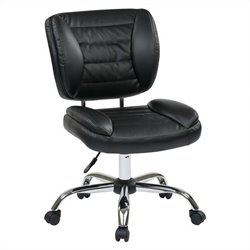 Armless Task Office Chair in Black