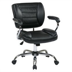 Task Office Chair Faux Leather in Black