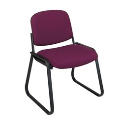 Deluxe Sled Base Armless Guest Chair in Cabernet