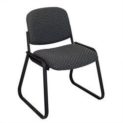 Deluxe Sled Base Armless Guest Chair in Charcoal Onyx