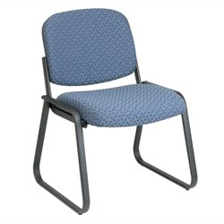 Deluxe Sled Base Armless Guest Chair in Cadet