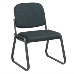 Deluxe Sled Base Armless Guest Chair in Trinket Ebony