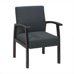 Deluxe Guest Chair in Charcoal and Mahogany