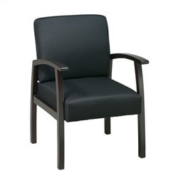 Deluxe Guest Chair in Espresso and Black