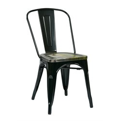 Metal Stacking Chair in Ash Cameron (Set of 2)