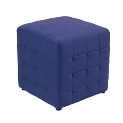 Fabric Ottoman Cube in Purple