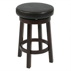 Office Star Metro Round Bar Stool in Espresso