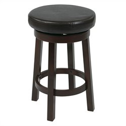 Round Bar Stool in Espresso