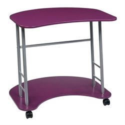 Office Star Kool Kolor Computer Desk in Purple