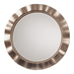 Cosmos Beveled Wall Mirror in Brushed Silver