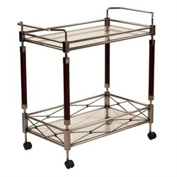 Serving Cart in Brass Metal