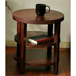 Round End Table in Mahogany