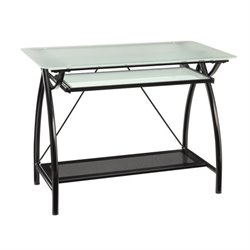 Designs Glass Computer Desk in Black