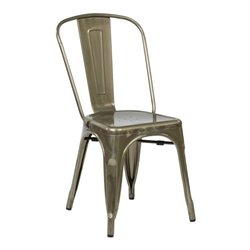 Patio Dining Chair in Gun Metal (Set of 4)