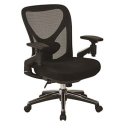 Mesh Seat Office Chair in Black
