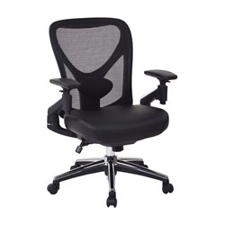 Faux Leather Office Chair in Black