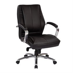 Deluxe Faux Leather Office Chair in Black