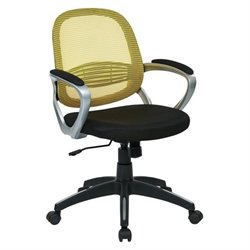 Mesh Back Office Chair in Yellow