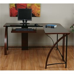 L Shape Home Office Corner Desk in Cherry