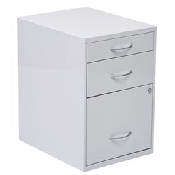 3 Drawer Filing Cabinet in White