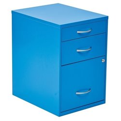 3 Drawer Filing Cabinet in Blue