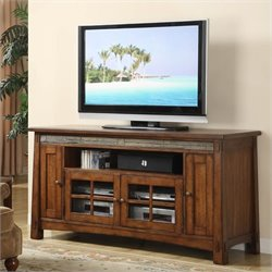 Riverside Furniture Craftsman Home 62 Inch TV Stand in Americana Oak