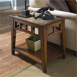 Riverside Andorra Side Table in Eden Burnished Cherry