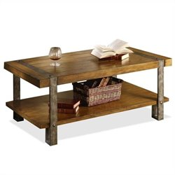 Riverside Sierra Rectangular Cocktail Table in Landmark Worn Oak