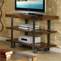 Riverside Furniture Sierra Console Table/TV Stand in Landmark Worn Oak