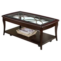 Riverside Furniture Annandale Rectangular Coffee Table in Dark Mahogany