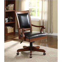 Riverside Furniture Bristol Court Desk Office Chair in Cognac Cherry