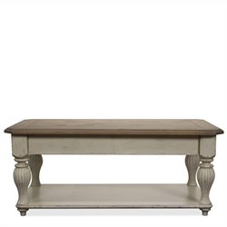 Riverside Furniture Coventry Lift Top Rectangular Coffee Table in Dover White