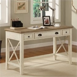 Riverside Furniture Coventry Two Tone Writing Desk in Dover White