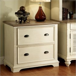 Riverside Furniture Coventry 2 Drwaer Lateral File Cabinet in White