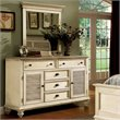 Riverside Furniture Coventry Shutter Door Dresser and Mirror Set in Dover White