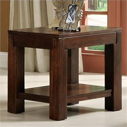 Riverside Furniture Castlewood End Table in Warm Tobacco