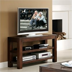 Riverside Furniture Castlewood Open Console Table/TV Stand in Warm Tobacco