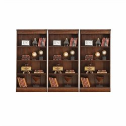 Riverside Furniture Castlewood Wall Bookcase in Warm Tobacco