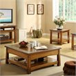 Riverside Furniture Craftsman Home Square Lift Top Cocktail Table in Americana Oak
