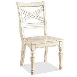 River Furniture Placid Cove X-Back  Dining Chair in Honeysuckle White