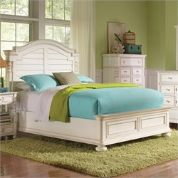 Riverside Furniture Placid Cove Arch Bed in Honeysuckle White