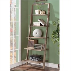 Riverside Furniture Lean Living Leaning Bookcase in Smoky Driftwood