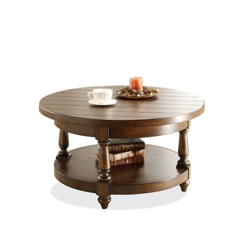 Riverside Furniture Newburgh Round Cocktail Table In