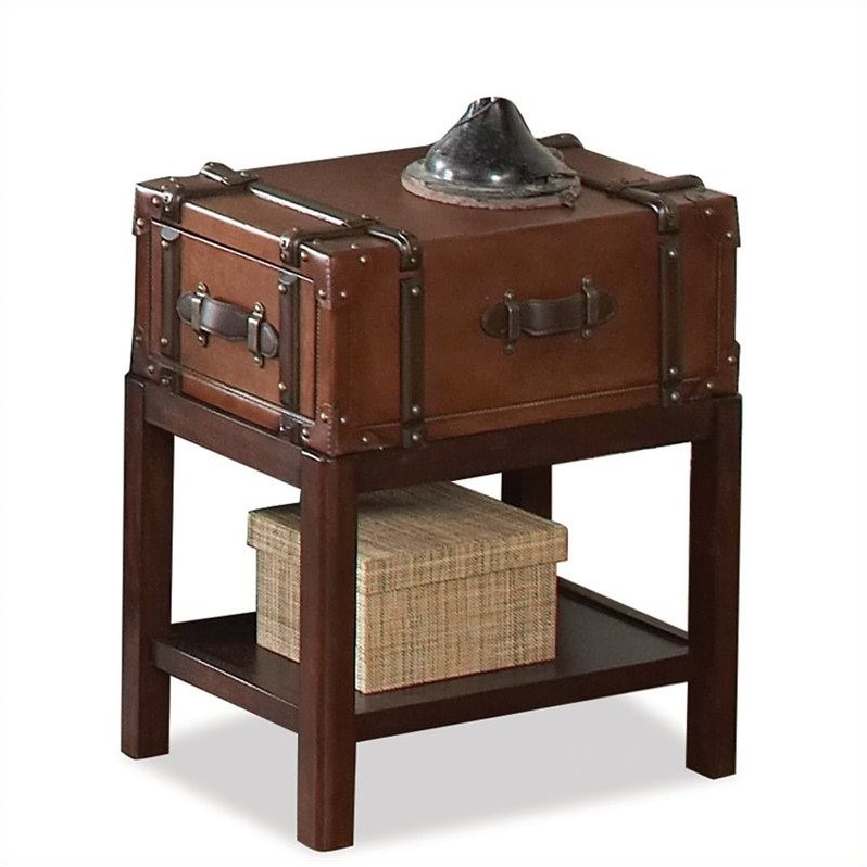 Riverside Furniture Latitudes Suitcase Chairside Table In