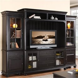 Riverside Furniture Beacon Point Left Pier in Pepper Black