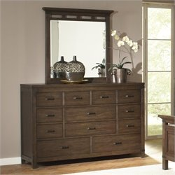 Riverside Furniture Promenade 10 Drawer Dresser in Warm Cocoa